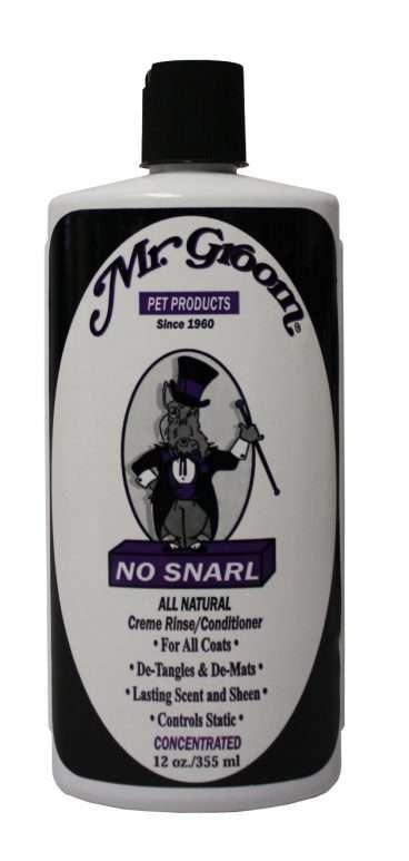 Mr. Groom No Snarl - Mr. Groom Priežiūros Priemonės Šunims ir Katėms. Kondicionierius Šunims ir Katėms Visų Tipų Kailiams 355ml.