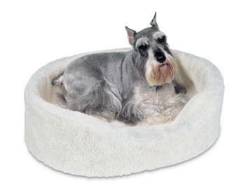 Petmate - Guoliai šunims. Smėlio spalvos minkštas guolis šunims su nuimamu kailiu 53,3x40,6x17,8cm.