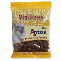 Antos Chews Mini Bones with Salmon - Skanėstai šunims. Maži kauliukai su lašiša (200g.)
