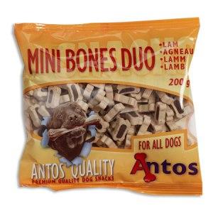 Antos Chews Mini Bones Duo with Lamb - Skanėstai šunims. Maži kauliukai su ėriena (200g.)