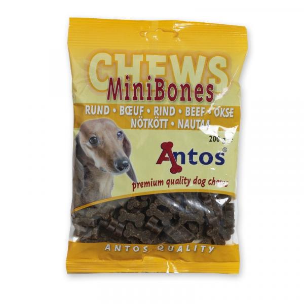 Antos Chews Mini Bones with Beef - Skanėstai šunims. Maži kauliukai su jautiena (200g.)