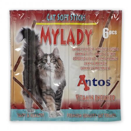 Antos Cat Soft Sticks Mylady with Lamb and Turkey - Skanėstai katėms su ėriena ir kalakutiena (5g.)