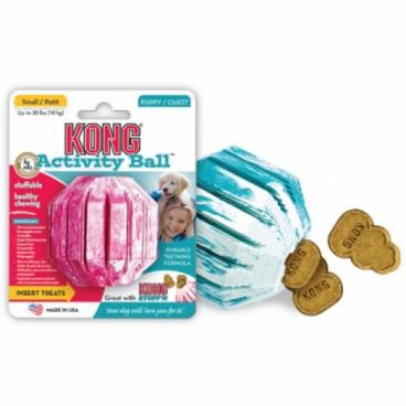 Kong Medium Puppy Activity Ball - Žaislas skanėstams