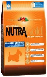 Nutra Gold Indoor Dog Microbites - Nutra Gold Sausas Maistas Kambariniams Šunims su Vištiena (3kg.)