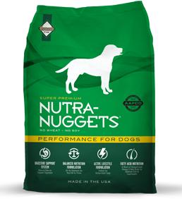 Nutra Nuggets Performance for Dogs - Sausas maistas sportiškiems, nuo vidutinio iki padidinto fizinio aktyvumo suaugusiems šunims (3kg.)
