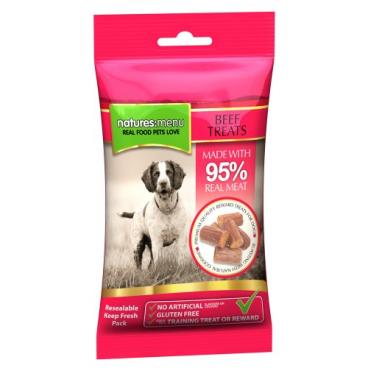Natures:menu Beef Treats - Skanėstai šunims su jautiena (60g.)
