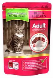 Natures:menu Adult Beef and Chicken - Konservai katėms su jautiena ir vištiena (100g.)
