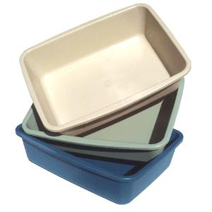 Petmate Small Litter Pan - Tualetai katėms be rėmelio (40,6x30,5x10,2cm.)