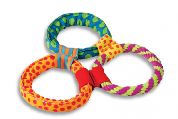 Petstages Healthy Hoops - Žaislai šunims. Aktyviam žaidimui. Trys žiedai