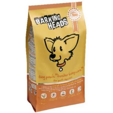 """Barking Heads Tiny Paws """"Tender Loving Care"""" Small Breed Adult Chicken - Sausas maistas suaugusiems mažų veislių šunims su vištiena (1,5kg.)"""