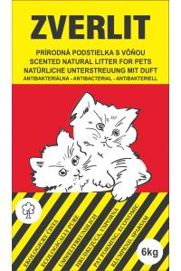 Zverlit Scented Natural Litter - Kačių kraikas su kvapu.Grūdelių plotis ≥ 4mm. (6kg.)