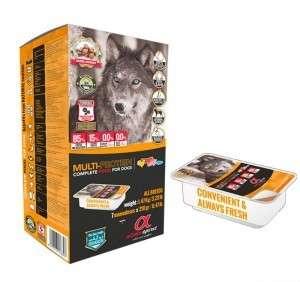 Alpha Spirit Dog Food - Alpha Spirit pašaras visų veislių jauniems, suaugusiems ir seniems šunims iš vištienos, jautienos, kiaulienos ir žuvies (210g.)