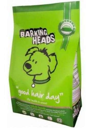 Barking Heads Bad Hair Day - Sausas maistas mažų ir vidutinių veislių suaugusiems šunims su ėriena sveikam ir žvilgančiam kailiui (2kg.)