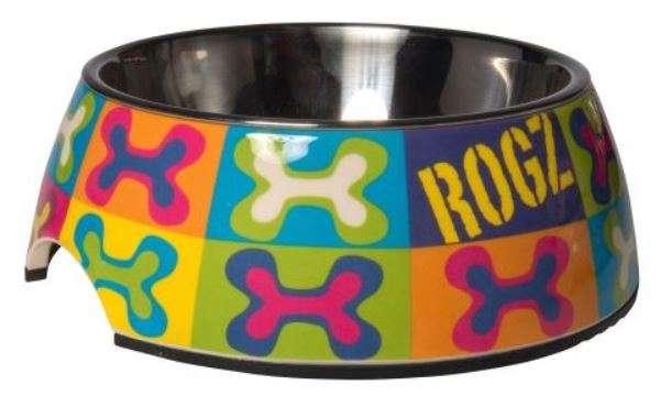 Rogz - Dubenėliai šunims. Aukštos kokybės ir įspūdingo dizaino dubenėlis šunims 14x4,5cm.