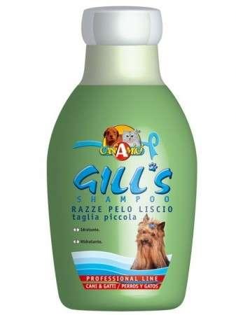 Gill's Razze Pelo Liscio-Taglia Piccola Shampoo - Gill's Priežiūros Priemonės Šunims ir Katėms. Šampūnas Lygiaplaukiams-Ilgaplaukiams Šunims ir Katėms (230ml.)