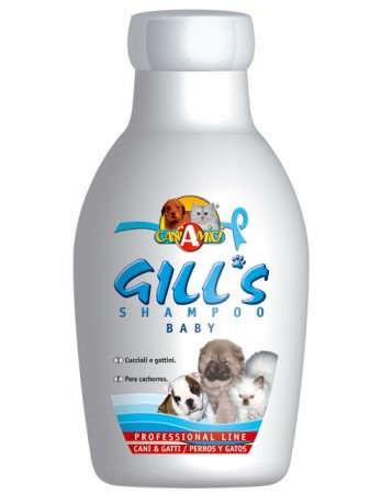 Gill's Baby Shampoo - Priežiūros Priemonės Šunims ir Katėms. Šampūnas Jauniems Šuniukams ir Kačiukams. Nedirgina Akių, Apsaugo nuo Utravioletinių Spindulių (230ml.)