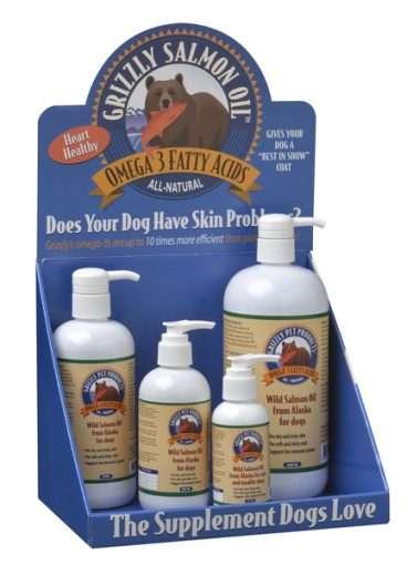 Grizzly Pet Products - Vitaminai ir papildai šunims ir katėms. Laukinių lašišų aliejus Omega - 3 (125 ml.)