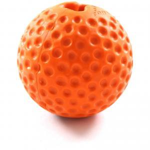 Rogz Gumz Small Orange - Rogz žaislai šunims. Kamuoliukas šunims į kurio vidų gali būti talpinami skanėstai (6,4cm.)