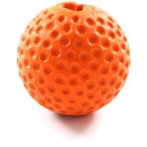 Rogz Gumz Small Orange - Rogz žaislai šunims. Kamuoliukas šunims į kurio vidų gali būti talpinami skanėstai (4,9cm.)