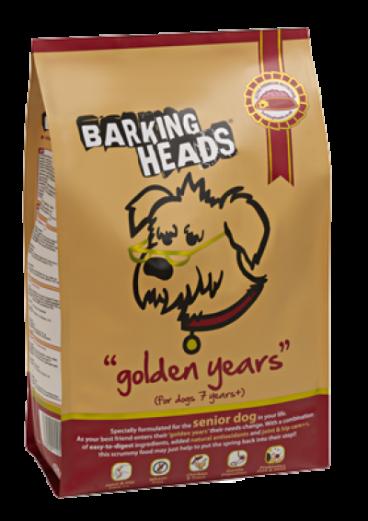 Barking Heads Golden Years - Sausas Maistas Vyresnio Amžiaus Šunims (2kg.)