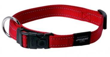 Rogz Lumberjack Red - Antkakliai šunims. Raudonas pritaikomas antkaklis su atšvaitu 43-70cm.