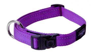 Rogz Lumberjack Purple - Antkakliai šunims. Violetinis pritaikomas antkaklis su atšvaitu 43-70cm.