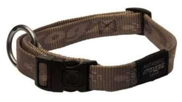 Rogz - Antkakliai šunims. Auksinis antkaklis su užrašų ROGZ 20-32cm.