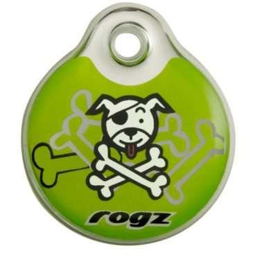 Rogz Lime Bone - Mirksiukai ir Pakabukai šunims. Identifikavimo pakabukas šunims