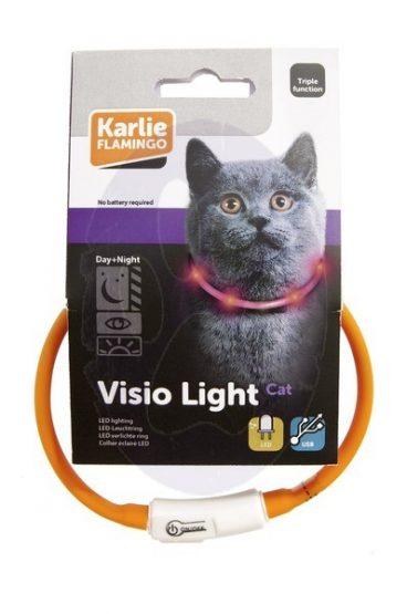 Karlie Visio Light LED - Antkakliai katėms. Šviečiantis antkaklis katėms (20-35cm.)