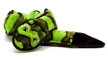 Kyjen Dog Toy - Kyjen žaislai šunims. Cypianti 3-jų dalių gyvatė