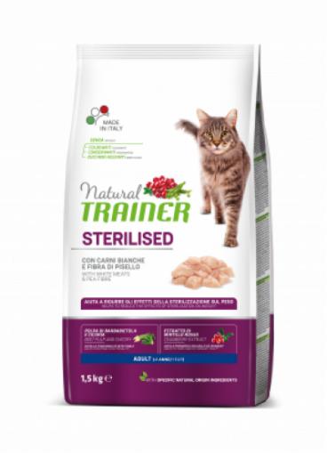 maistas sterilizuotom katems - sausas maistas katems - sausas maistas su balta mesa