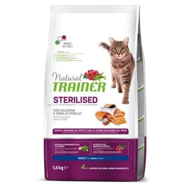 maistas sterilizuotom katems - sausas maistas katems - sausas maistas su lašiša