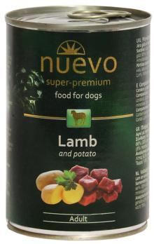 Nuevo Dog Adult Lamb - Konservai šunims su ėriena ir bulvėmis (400g.)