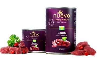 Nuevo Cat Adult Lamb with Cranberries - Konservai katėms su ėriena ir spanguolėmis (400g.)