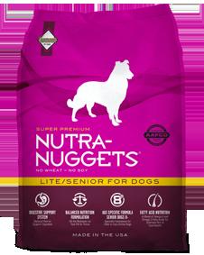 Nutra Nuggets Light Senior for Dogs - Sausas maistas senesniems, turintiems viršsvorį ar neaktyviems šunims (15kg.)