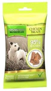 Natures:menu Chicken Treats - Skanėstai šunims su vištiena (60g.)