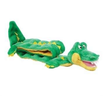 Outward Hound - Žaislai šunims. Minkštas 16-ų dalių cypiantis krokodilas.