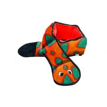 Outward Hound - Žaislai šunims. Ypač tvirtos medžiagos 3-ų dalių cypianti gyvatė (ilgis 55cm, plotis 10cm).