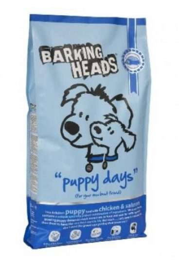 Barking Heads Puppy Days - Sausas maistas jauniems šuniukams su vištiena ir lašiša (2kg.)