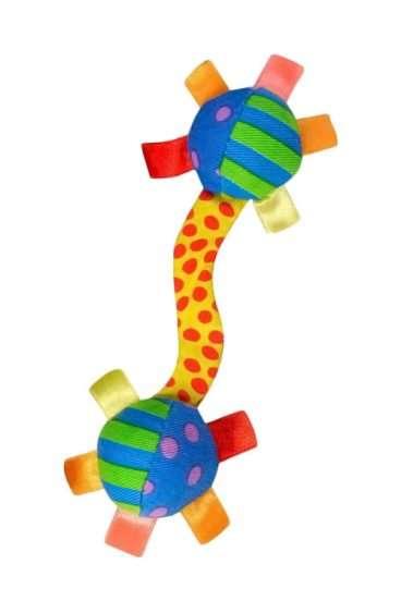 Petstages Floppy Barbell - Petstages žaislai šunims. Traškantis, pliušinis žaislas