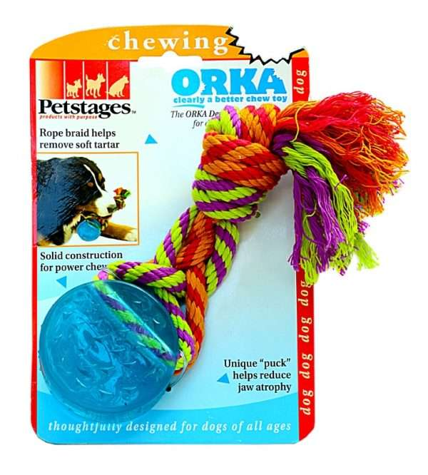 Petstages ORKA Dog Toy - Petstages žaislai šunims. Guminis kramtukas su virvelėmis