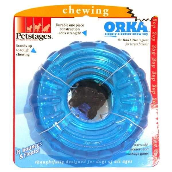 Petstages ORKA Dog Tire - Petstages žaislai šunims. Guminis kietas ratas