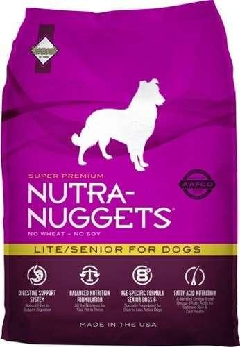 Nutra Nuggets Light Senior for Dogs - Sausas maistas senesniems, turintiems viršsvorį ar neaktyviems šunims (3kg.)