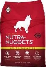 Nutra Nuggets Lamb Meal and Rice - Sausas maistas suaugusiems, vidutinio fizinio aktyvumo šunims su ėriena ir ryžiais (15kg.)