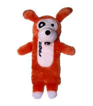 Rogz CLONES THINZ LARGE - Rogz žaislai šunims. Oranžinis minkštas cypiantis žaislas šuniui (33cm.)
