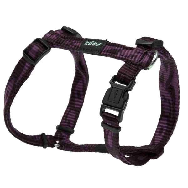 Rogz Kilimanjaro Purple - Petnešos šunims. Violėtinės pritaikomosios petnešos 23-37cm.
