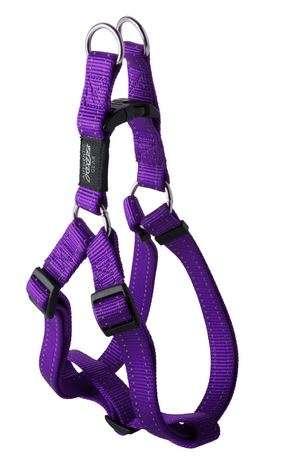 Rogz Fanbelt Purple - Petnešos šunims. Violėtinės greito paleidimo petnešos su atšvaitu 53-76cm.