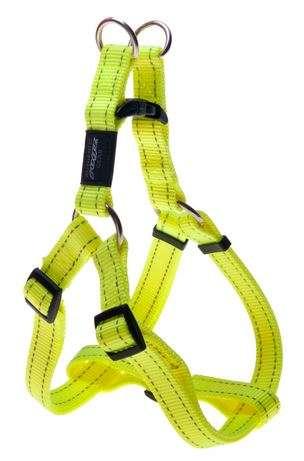 Rogz Fanbelt Yellow - Petnešos šunims. Geltonos greito paleidimo petnešos su atšvaitu 53-76cm.