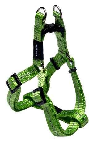 Rogz Nitelife Lime - Petnešos šunims. Šviesiai žalios greito paleidimo petnešos su atšvaitu 27-38cm.