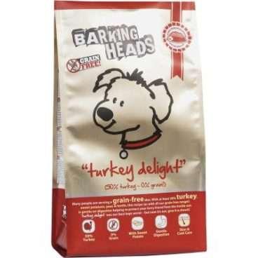 Barking Heads Turkey Delight - Sausas Maistas Šunims su Kalakutiena be Grūdų (2kg.)